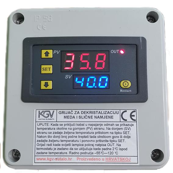 Digitalni termostat grijača za med